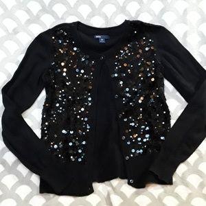 Gap Kids Black Sequin Sweater